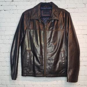Tommy Hilfiger Mens Leather Jacket S